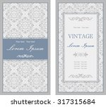 set of antique greeting cards ... | Shutterstock .eps vector #317315684