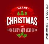 christmas labels  emblems  ... | Shutterstock .eps vector #317320160