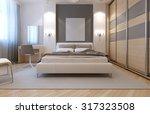 master bedroom avangard design. ... | Shutterstock . vector #317323508