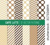 Caffe Latte Polka Dots  Chevro...