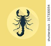 picture of a scorpion on yellow ... | Shutterstock .eps vector #317330054