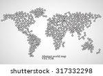 abstract world map. molecule... | Shutterstock .eps vector #317332298