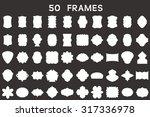 set of original blank frames.... | Shutterstock .eps vector #317336978