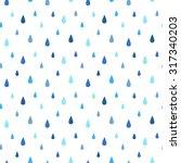 Rain Seamless Vector Pattern....