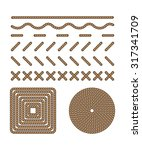41 style set template  stitch... | Shutterstock .eps vector #317341709