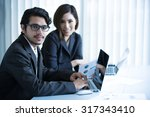 asian businessmen are working... | Shutterstock . vector #317343410