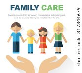 vector family care and... | Shutterstock .eps vector #317344679