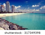 south beach in miami  florida | Shutterstock . vector #317349398
