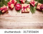 Festive Christmas Border With...