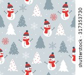 christmas seamless pattern with ... | Shutterstock .eps vector #317353730