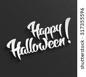 happy halloween   3d white hand ... | Shutterstock .eps vector #317355596
