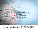 map view of sunshine coast ... | Shutterstock . vector #317366288