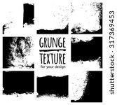 grunge black textures on white...   Shutterstock .eps vector #317369453