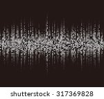 black and white halftone... | Shutterstock .eps vector #317369828