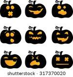 halloween pumpkin vector icons... | Shutterstock .eps vector #317370020