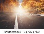 Rural Road. Natural Autumn...