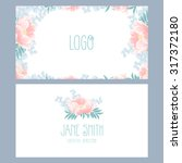 vector floral business card...   Shutterstock .eps vector #317372180