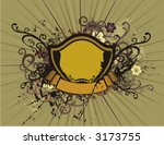grunge shield background with... | Shutterstock .eps vector #3173755