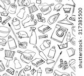 seamless doodle pattern of... | Shutterstock .eps vector #317385500