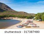 tarrafal beach in santiago... | Shutterstock . vector #317387480