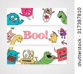 design of brochure with... | Shutterstock .eps vector #317387810