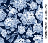 flower pattern. hydrangea... | Shutterstock .eps vector #317388290