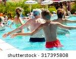 people doing water aerobics in...   Shutterstock . vector #317395808