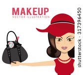 make up fashion design  vector... | Shutterstock .eps vector #317396450