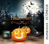 Halloween Decorations In Spook...