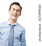 happy young man smiling | Shutterstock . vector #317399033