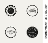 set of labels with text  | Shutterstock .eps vector #317402609