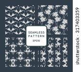 set of vector seamless pattern... | Shutterstock .eps vector #317403359