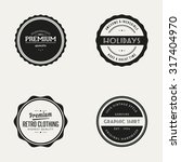 set of labels with text  | Shutterstock .eps vector #317404970
