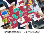 recycle reduce reuse eco... | Shutterstock . vector #317406650