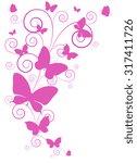 butterflies design | Shutterstock .eps vector #317411726