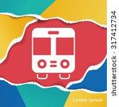 bus icon | Shutterstock .eps vector #317412734