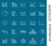 graph line color icons on blue... | Shutterstock .eps vector #317422949
