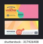 modern pastels color gift... | Shutterstock .eps vector #317426408