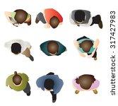 people standing top view set 5  ... | Shutterstock .eps vector #317427983