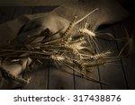 ripe ears of wheat on the... | Shutterstock . vector #317438876