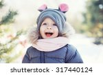 Funny Baby Laughing Outdoors I...