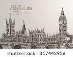 the big ben  the houses of... | Shutterstock .eps vector #317442926