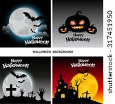 halloween vector background | Shutterstock .eps vector #317451950