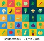 vegetables icons | Shutterstock .eps vector #317452106