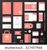 corporate identity template set.... | Shutterstock .eps vector #317457968