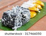 Black Coconut Sweet Pudding On...