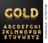 golden uppercase alphabet. set...   Shutterstock . vector #317467748