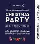 christmas party invitation card.... | Shutterstock .eps vector #317469680