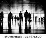three business people walking... | Shutterstock . vector #317476520