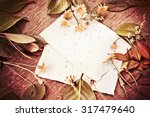 autumn background with colorful ... | Shutterstock . vector #317479640